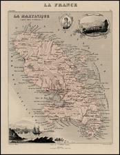 Caribbean Map By Alexandre Vuillemin