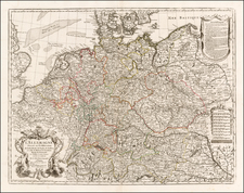 Netherlands, Germany, Poland and Baltic Countries Map By Guillaume De L'Isle / Philippe Buache