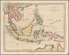 China, Southeast Asia, Philippines and Australia Map By Robert Wilkinson