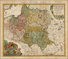 Poland and Baltic Countries Map By Homann Heirs / Tobias Mayer