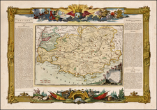 France Map By Louis Charles Desnos