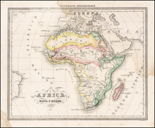 Africa and Africa Map By Francesco Marmocchi