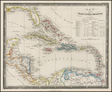 Caribbean Map By James Wyld