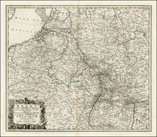 Netherlands, France and Germany Map By Homann Heirs