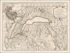 Switzerland Map By Philippe Buache