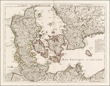 Baltic Countries and Scandinavia Map By Philippe Buache