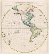 Western Hemisphere, South America and America Map By Jean-Baptiste Bourguignon d'Anville