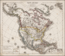 North America Map By Dr. F.W. Streit