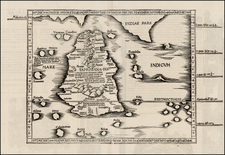 India and Other Islands Map By Lorenz Fries