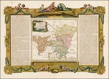 Austria Map By Louis Brion de la Tour