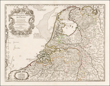 Netherlands Map By Philippe Buache
