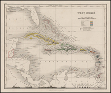 Caribbean Map By J.W. Orr