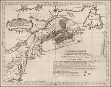 New England, Mid-Atlantic and Canada Map By Anonymous