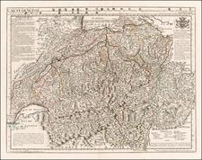 Switzerland Map By Philippe Buache