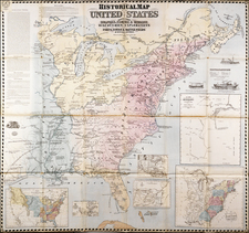 United States Map By Rufus Blanchard
