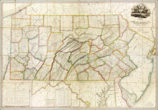Pennsylvania Map By John Melish