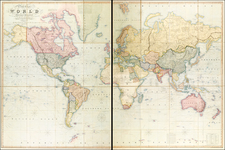 World, World and Polar Maps Map By Henry Teesdale
