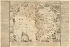 North America, South America and America Map By Nicolas de Fer / Guillaume Danet / Jacques-Francois Benard