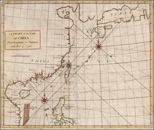 China, Japan, Southeast Asia and Philippines Map By John Senex / Edmund Halley / Nathaniel Cutler