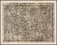 India, Southeast Asia, Philippines and Other Islands Map By Giacomo Gastaldi