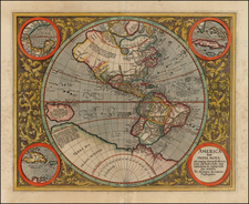 World, Western Hemisphere, South America and America Map By Michael Mercator