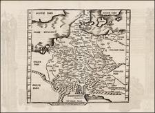 Netherlands, Germany, Austria, Hungary, Czech Republic & Slovakia and Scandinavia Map By Lorenz Fries