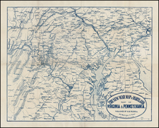 Mid-Atlantic, Pennsylvania and Southeast Map By Ferdinand Mayer & Co.