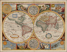 World, World and Celestial Maps Map By John Speed