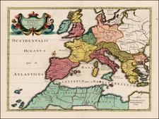 Europe, British Isles and Mediterranean Map By Johannes Covens  &  Cornelis Mortier