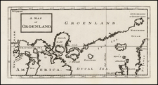 A Map of Groenland By Herman Moll