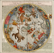 Celestial Maps Map By Nicolas de Fer / Guillaume Danet