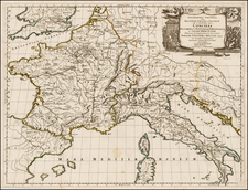Europe, France, Germany, Italy and Mediterranean Map By Nicolas Sanson