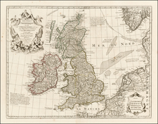 British Isles Map By Philippe Buache