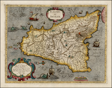 Italy and Balearic Islands Map By Giovanni Antonio Magini