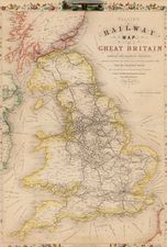 British Isles Map By John Tallis / John Rapkin