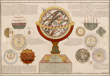 Curiosities and Celestial Maps Map By Nicolas de Fer  &  Guillaume Danet