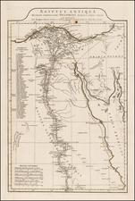 Egypt Map By Jean-Baptiste Bourguignon d'Anville