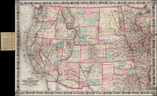Colton's Map of the States and Territories West of the Mississippi River to the Pacific Showing the Overland Routes, Projected Railroad Lines &c . . . 1872 By G.W.  & C.B. Colton