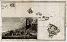 Hawaii and Hawaii Map By James Cook / J. C. G. Fritzsch