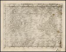 France, Italy and Balearic Islands Map By Giacomo Gastaldi