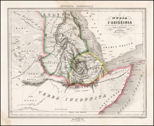 Egypt, North Africa and East Africa Map By Francesco Marmocchi