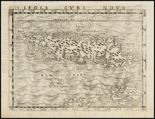 Caribbean Map By Giacomo Gastaldi