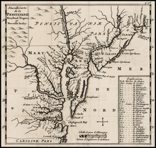 Mid-Atlantic and Southeast Map By Richard Blome - Abraham Wolfgang
