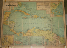 Caribbean and Central America Map By George Philip & Son