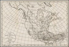 Atlantic Ocean and North America Map By Weimar Geographische Institut