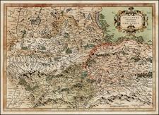 Austria Map By  Gerard Mercator