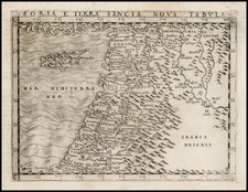 Balearic Islands, Middle East and Holy Land Map By Giacomo Gastaldi