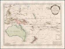 Australia & Oceania, Australia, Oceania, New Zealand and Other Pacific Islands Map By Franz Johann Joseph von Reilly
