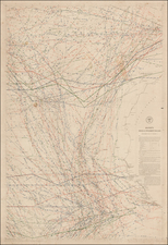 Atlantic Ocean and West Africa Map By Matthew Fontaine Maury