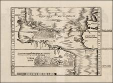 Atlantic Ocean, North America, South America and America Map By Lorenz Fries